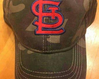 FREE SHIPPING - STL Cardinals Camo Baseball Hat - St. Louis Cards Camouflage Ball Cap - Saint Louis Cardinals Camo Hat
