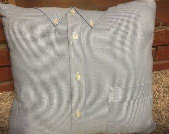 Memory Pillow made from the shirt of a loved one