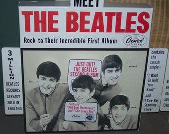 The Beatles Second Album 1964 working motorized animated RECORD STORE counter advertising DISPLAY REPROduction FulL SiZe