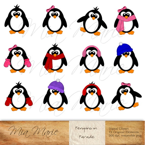 instant download digital clip art penguin clipart penguin clip rh etsystudio com clip art penguins for coloring clip art penguin in santa sleigh