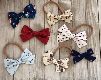 Crazy About Red, White, & Blue   Fabric Bows