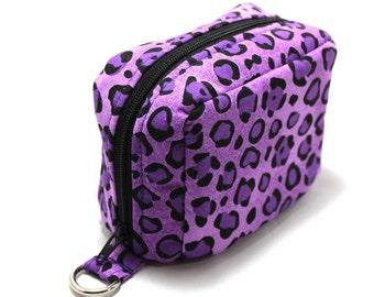 Essential Oil Case Holds 6 Bottles Essential Oil Bag Purple Leopard Print