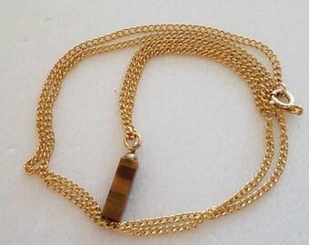 """18"""" GF Tiger Eye Necklace"""