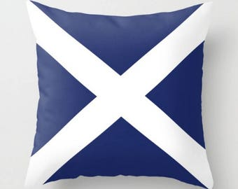 Scottish Flag Pillow, Decorative Pillow, Throw Pillow, Accent Pillow, Sofa  Decor Pillow