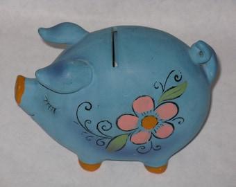 Vintage Napcoware piggy bank blue