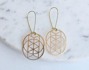 Chevron Venn Circles Earrings | ATL-E-220