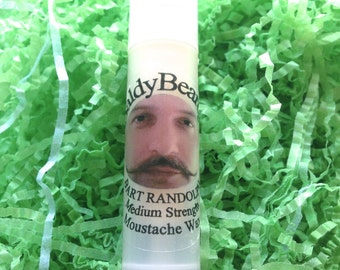 Moustache wax twisty tubes. Moustache styling and holding wax in a tube. Easy, convenient to apply on the move. Moustache care product UK
