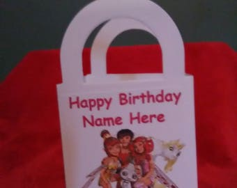 Mia and Me set of 12 personalized Birthday party goody/ favor bags
