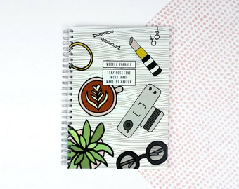 SALE** Weekly Planner - A5 - Weekly Schedule - Undated - Flat Lay Design