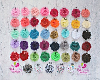 You Pick 5 Mini Shabby Chic Headbands..baby headband.. Infant Headbands - Newborn Headbands - Baby Girl Headbands - Baby Hair Accessories