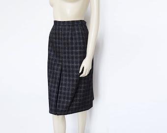 Vintage Skirt, UK12, Gor-Ray, Vintage Skirt, Secretary Skirt, Vintage Clothing, Wool Skirt, Plaid Skirt, Christmas Skirt, Womenswear, 60s