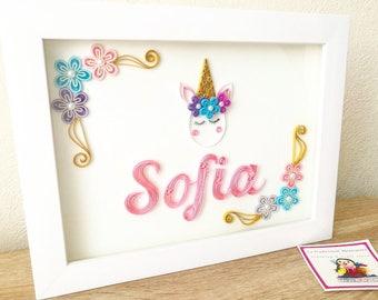 Decorative box with paper filigree technique name