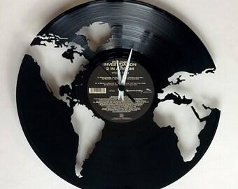 Vinyl Record Clock (World)