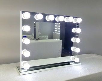 Vanity mirror etsy frameless xl hollywood forever lighted vanity mirror w led bulbs dual outlets aloadofball Choice Image
