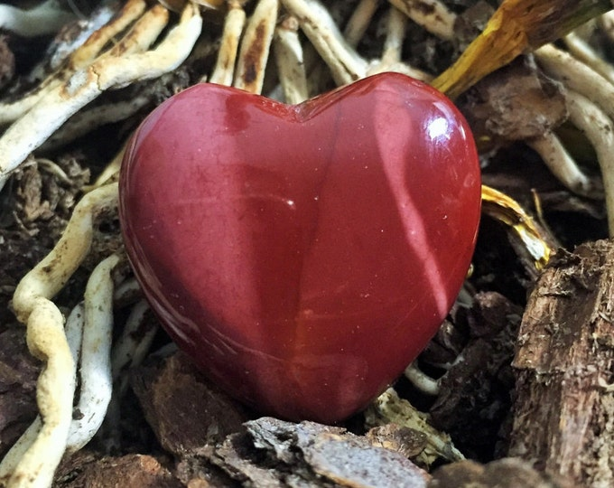 Red Mookaite Heart infused with Reiki / Healing Crystals and Stones