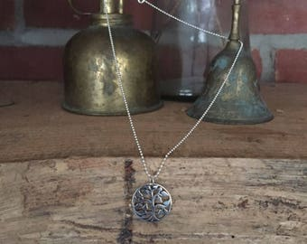 Sterling Silver Tree of Life Necklace, 18""