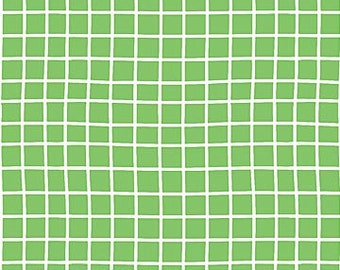 Green Grids from Northcott Fabric's Whale of a Time Collection by Deborah Edwards