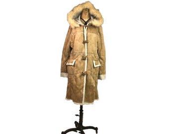 Vintage suede fur jacket