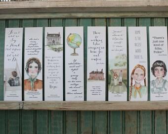 Literary Bookmarks - Elizabeth Bennett, Laura Ingalls, Jane Austen, Scout  Finch, Literary quotes, Pride and Prejudice, Mr. Darcy