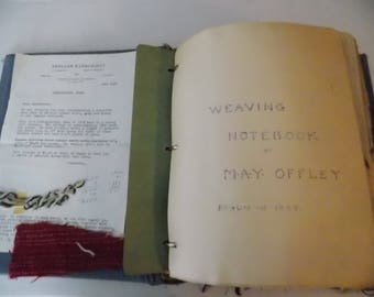 Handmade Weaving Journal from 1949 *ONE OF A KIND*