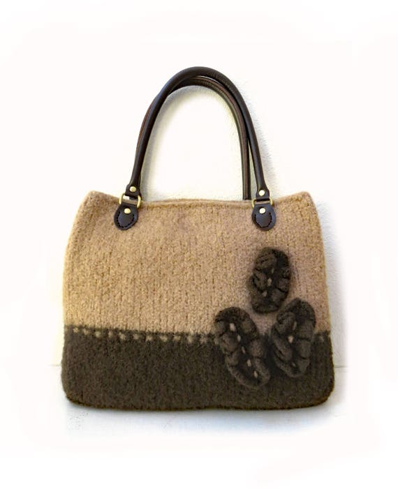 Knit Bag Pattern Felted Purse Pattern Knitting Pattern
