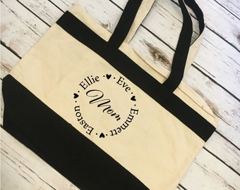 Personalized Mom Tote Mother's Day Gift For Mom Gift For Mama Tote Gift For Her On Mother's Day Personalized Name Tote For Mom Of Kids