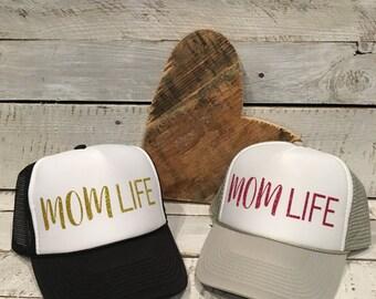 Mom Life Trucker Hat, Mom Life Hat, Mom Life, #Mom Life, # Mom Life Hat