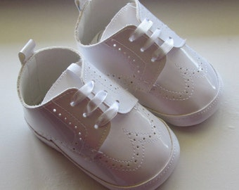Free Shipping Baptism Christening Wedding Gown Baby Boy Pram Shoes Faux leather Soft Shoes