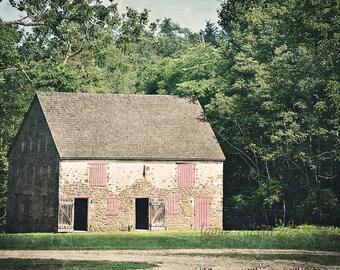 Batsto Barn 11x14 Fine Art Photograph - Farm, Building, Country, Historic, Stione