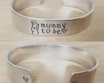 Mummy to be...cuff bracelet...