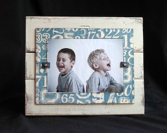 SALE Baby Boy Picture Frame Sports Frame Barnwood Picture Frame Handmade Frame  5x7 Picture Frame Shower Gift Nursery Decor Baseball Frame