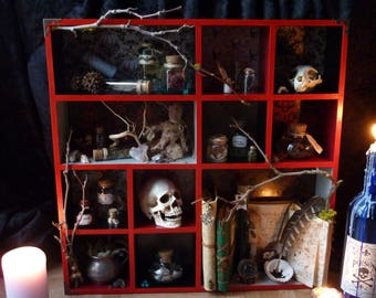 """shelf """"spells and enchantments"""" Witch Witchcraft"""
