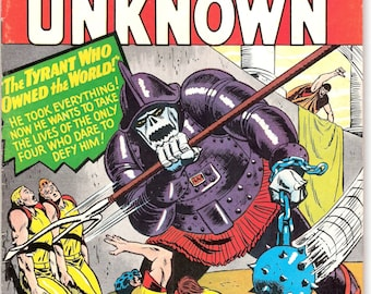 Challengers of the Unknown 49, Sci fi Gift, Outer Space comic, Scifi book, Astronaut art. 1966 DC Comics in FNVF (7.0)