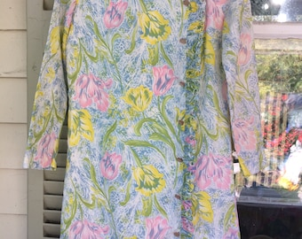 Pretty Floral 1960s dress Tulips