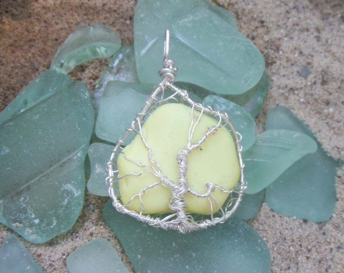 Sea Pottery Ornament - English Sea Glass Ornament - Tree of Life - Unique Gifts for Her - Birthday Gift for Mom