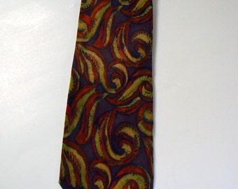 Vintage Geoffrey Silk Mens Necktie  Mens Dress Neckwear  Mint Condition