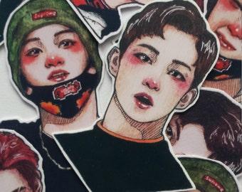 kpop stickers NCT U 127 korea k-pop bujo stickers taeyong mark