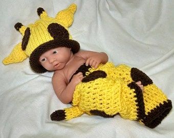 Newborn Crochet Outfit Baby Giraffe Outfit Knitted baby outfit Baby Boy Baby Girl Giraffe Hat Giraffe Hat Photography Prop Newborn Hat