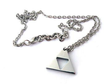 Triforce Necklace - Legend of Zelda - Polished Stainless Steel