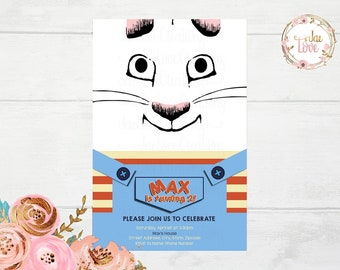 Max and Ruby Character Inspired Invitation