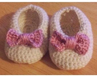 Newborn Big Bow Slippers