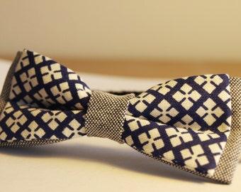 Bow Tie Vintage Blue and White Boy children 6 months-6 years