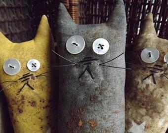 Primitive Cat Decor, Cat Lover Gift, Farmhouse Decor, Country Home Decor, Primitive Cat, Gift For Her