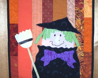 Halloween wall hanging whimsical witch