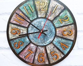 Shabby Chic Colored  Wall Clock, Home Decor