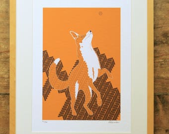 Urban fox limited edition A3 print