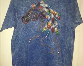 Vintage Southwestern Southwest Horse T-Shirt-UTAH-sz Large