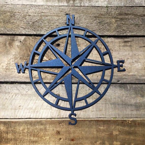Compass Rose Metal Wall Art Nautical Compass Nautical Wall