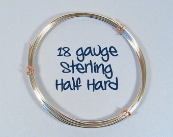 Sterling Silver Wire - 18ga HH  - Choose Your Length