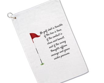 Golfer's Towel - Golf Towel - Golf Gifts - Gifts for- Women - Men - Father's Day Gifts - Grandpa - Golfing - Ball Towel - Golf Saying